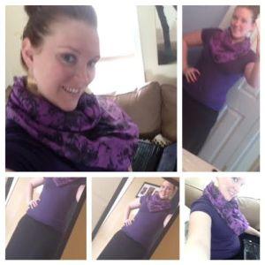 maxi skirt purple