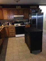 kitchen island in kitchen