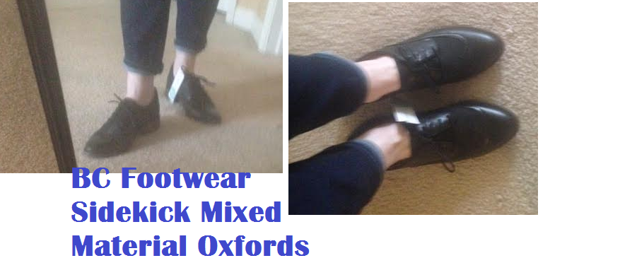 bc mixed material oxfords