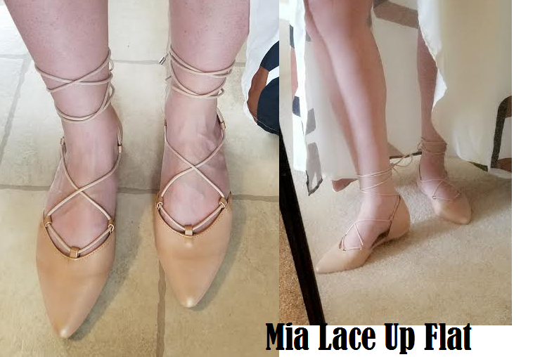 mia lace up flat